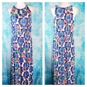 Shoreline Boho Lotus Floral Halter Maxi Dress